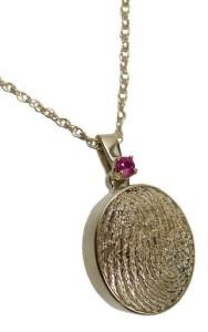 cremation thumbprint pendant
