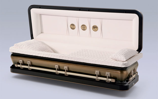 Golden Midnight Metal Casket