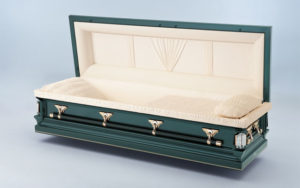 Jewel Mint Metal Casket