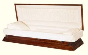 Paragon Mahogany Wood Casket