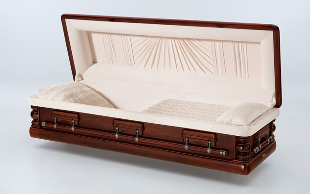 Prominence Sycamore Wood Casket