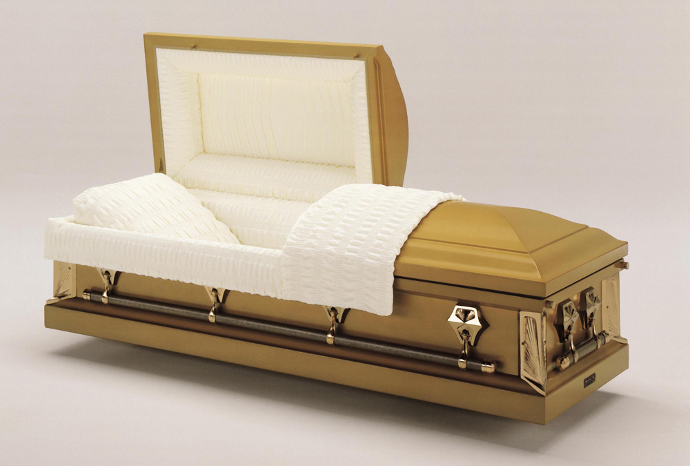 Antique Gold Casket