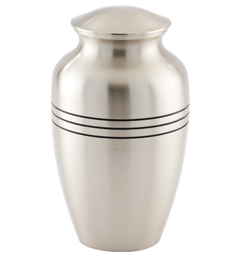Brushed Pewter Urn