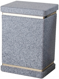 Speckled Plastic Grey Urn1