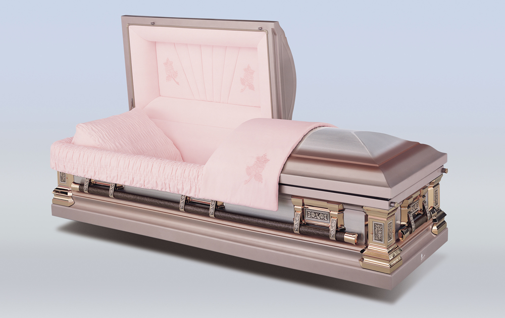 Tapestry Rose Casket